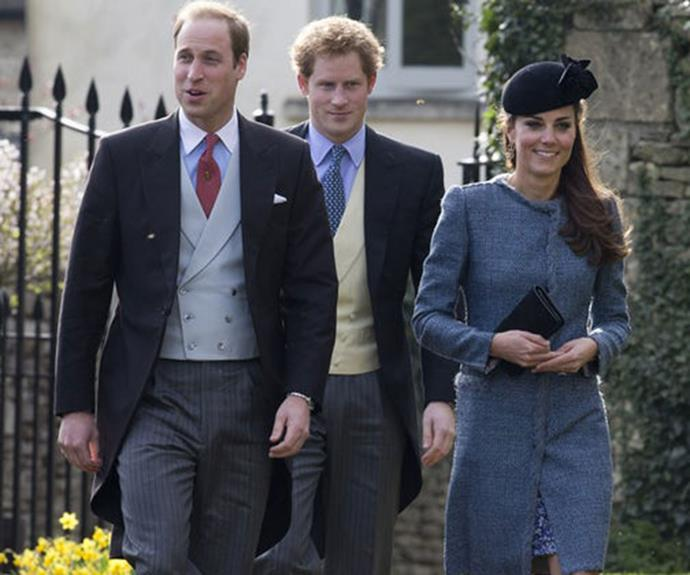 In 2014, at the wedding of friends Lucy Meade and Charlie Budgett, Catherine attended with Prince William and Prince Harry.