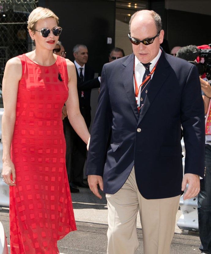 The couple attended the world's most glamorous auto race in Monaco.