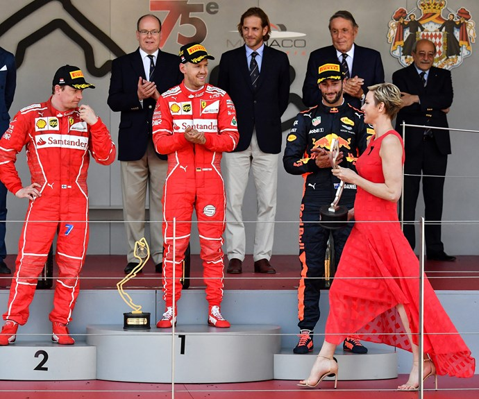The Princess presented the winner with his award.