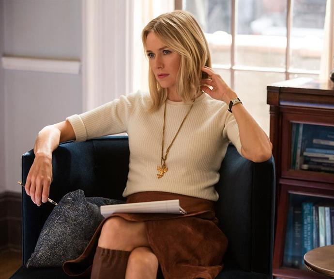 "**Gypsy:** Naomi Watts seriously blurs the lines of her personal and professional lives in the new Netflix original series *Gypsy*. Naomi will play Jean Halloway, a therapist with a dark secret. If you're a fan of *Big Little Lies*, *Gypsy* will be right up your alley. [*Gypsy*](http://www.nowtolove.com.au/celebrity/tv/naomi-watts-new-netflix-series-gypsy-37411|target=""_blank"")  premieres on Netflix on June 30."