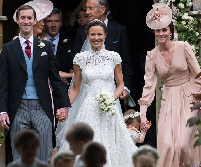 Kate couldn't be happier for her sister.