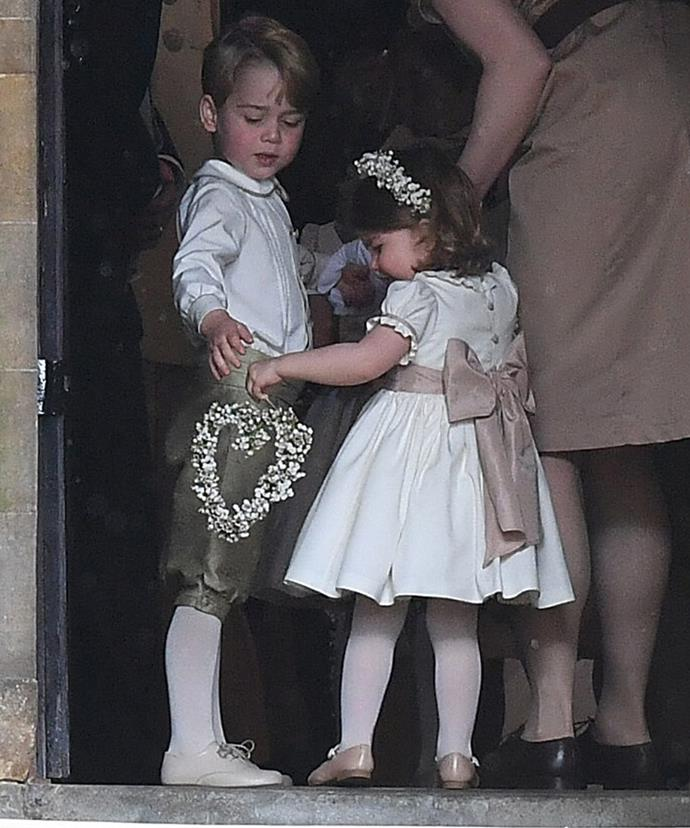 Young George and Charlotte had starring roles on their Aunty's big day.