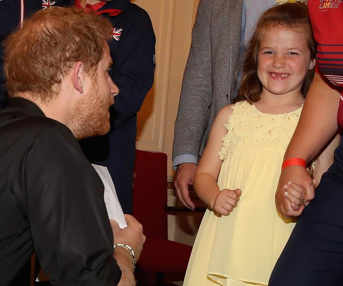 """The letter read, """"I was very proud of mummy and every other brave boy and girl. Thank you Help for Heroes and Prince Harry for helping my mummy and her friends. P.S. I hope I have my two front teeth for Toronto!"""""""