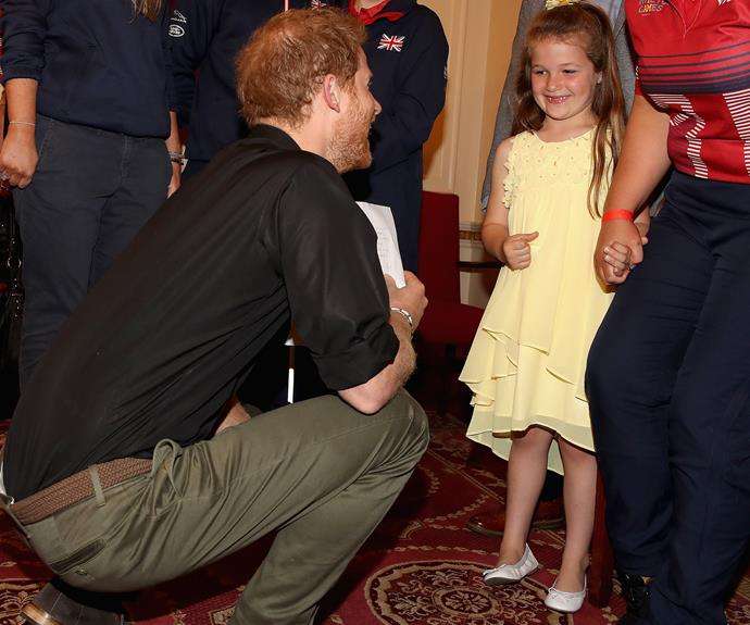 Attention: Prince Charming! Harry attended the launch of the UK's Invictus Games team in London, where he met Maya Turner.