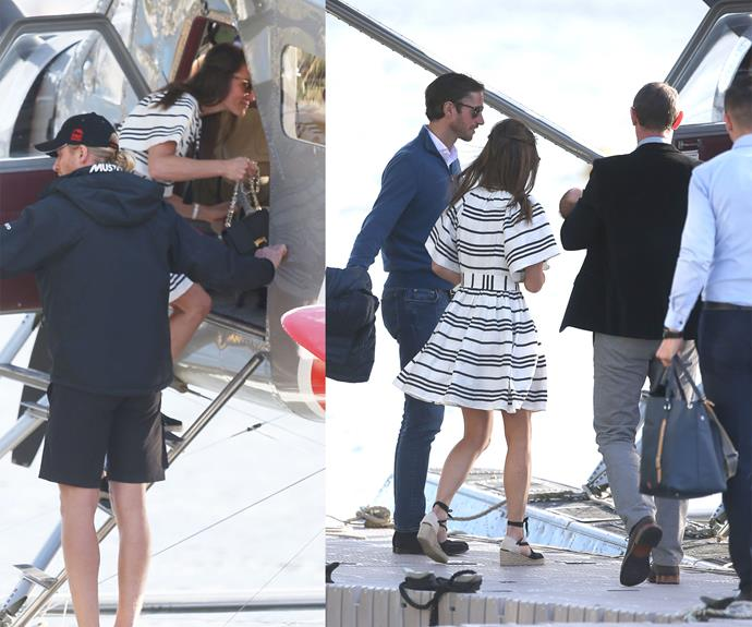 It's believed they're staying at the Park Hyatt Hotel. **(Images: Instar Images Australia and Media Mode)**