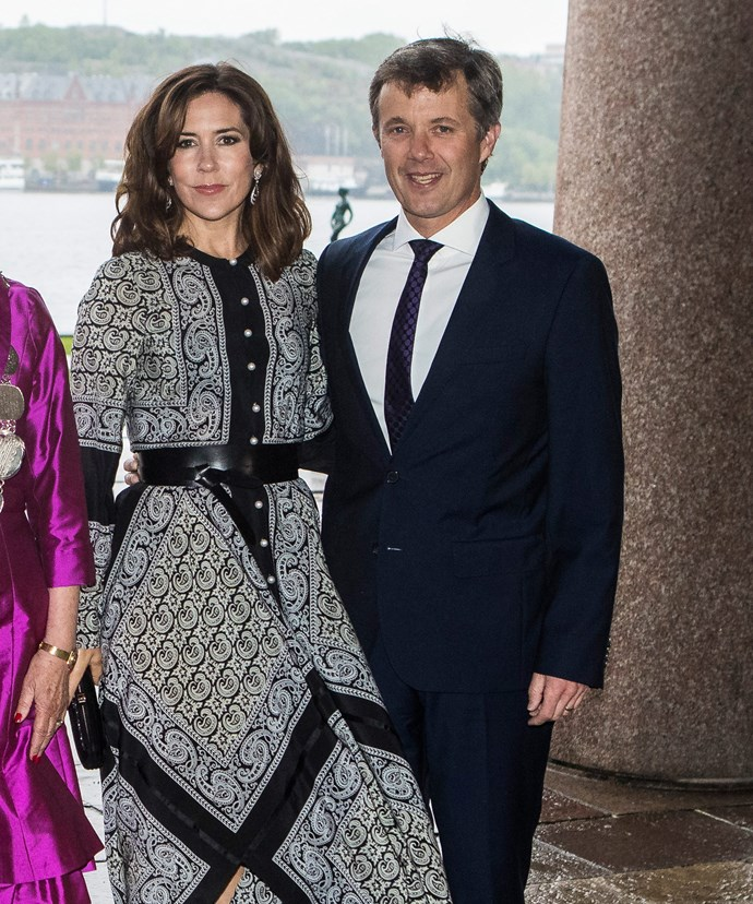 Following their hospital visit, Princess Mary and Prince Frederik enjoyed a dinner at Stockholm's city hall.