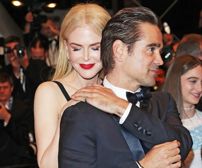Nic and Colin Farrell got very close at the Cannes premieres of their two new films, *The Killing of a Sacred Deer* and *The Beguiled*.