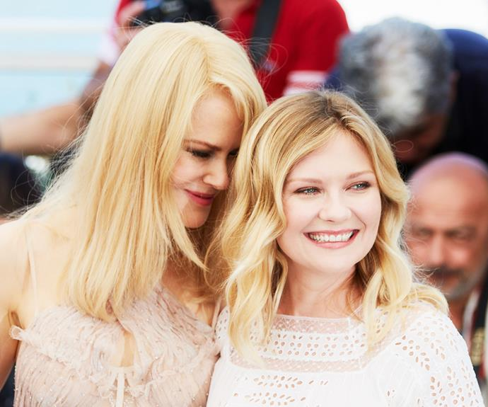 Nicole appeared transfixed on her *The Beguiled* co-star Kirsten Dunst, leaning in for a nuzzle at the premiere of the film in Cannes.