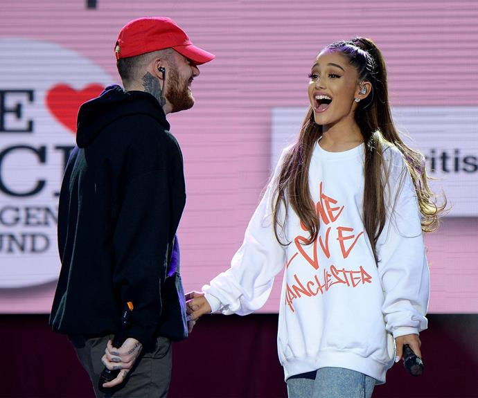 Ariana was joined by her boyfriend, Mac Miller.