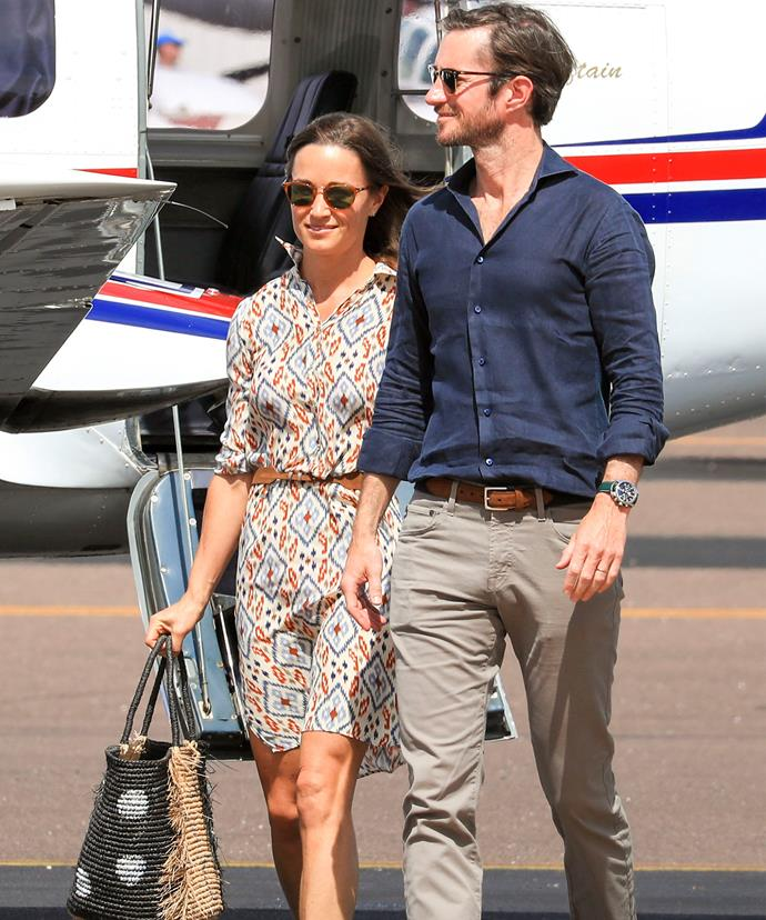 On Saturday, Pippa and James left Darwin bound for Perth.