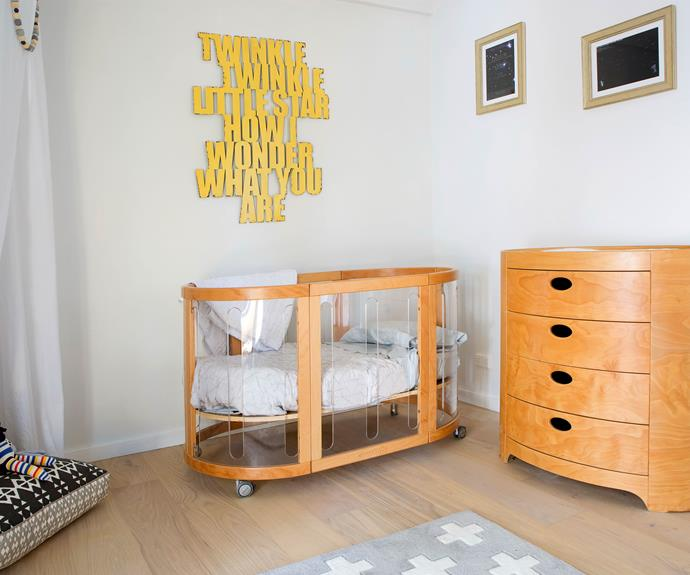 "**Brooklyn's room – renovated by Fiona and Nicole:** Aaron thought Brooklyn's bedroom was beautiful, however he also felt it was, ""a bit clinical"" and needed some colour. Both Aaron and Daniella were also a little concerned about the open wardrobe being unsafe for a baby."