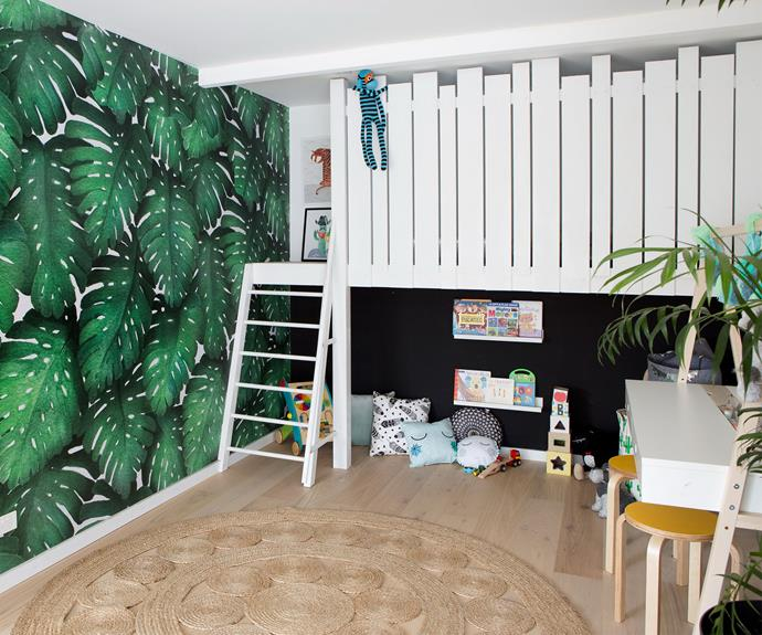 "**Playroom – renovated by Kate and Harry:** The playroom was Aaron and Daniella's favourite room in the house. ""It feels like a little kid's holiday retreat play area,"" Daniella said."