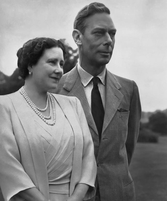 The Queen Mother, pictured with her husband King Edward, apparently made several off-colour comments.