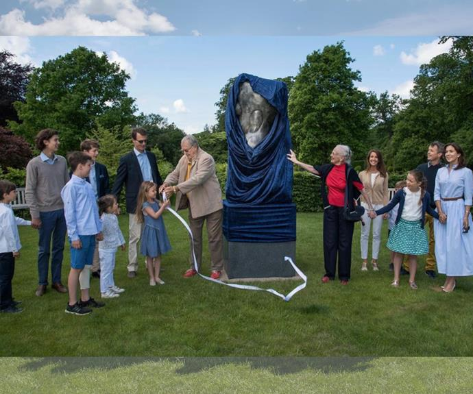"""To celebrate 50 years of wedded bliss, the couple gifted each other with a statue called """"Miss Fredensborg."""""""