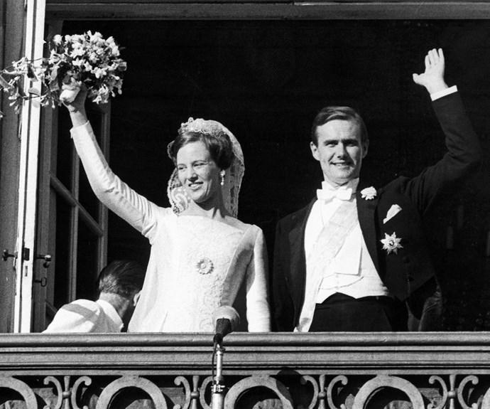 A then Princess Margrethe married Prince Henrik in Copenhagen on 10 June 1967.
