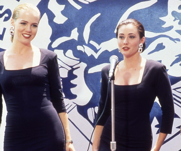 **Kelly & Brenda (*90210*):**   Kelly (Jennie Garth) and Brenda (Shannen Doherty) didn't have the smoothest friendship (the summer fling that Kelly had with Brenda's then boyfriend Dylan (Luke Perry) didn't help things) but the girls managed to work through it. They remained friends for years despite their past disagreements and even came together again in the *90210* reboot in 2008 when Kelly got Brenda a job.