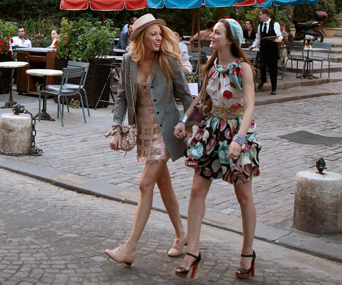 **Serena & Blair (*Gossip Girl*):**  Super stylish besties Serena van der Woodsen (Blake Lively) and Blair Waldorf (Leighton Meester) have the wardrobes we wish we had! And their friendship wasn't too bad either.