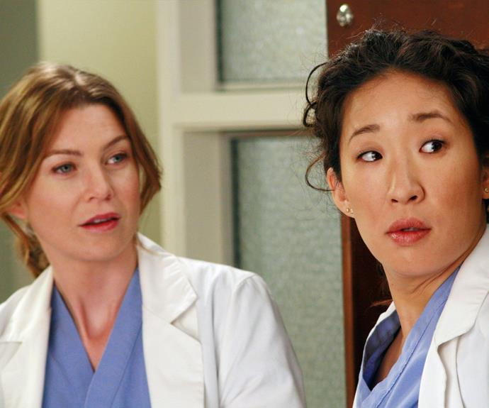 "**Meredith & Cristina (*Grey's Anatomy*):**  Best friends Meredith Grey (Ellen Pompeo) and Cristina Yang (Sandra Oh) are the real love story on medical drama series *Grey's Anatomy*. Cristina even calls Meredith her ""person"" and we love that the pair use dancing as a form of therapy when things aren't going so well."