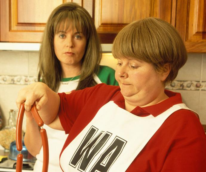 "**Kim & Sharon (*Kath & Kim*):**   Even though Kim continually refers to Sharon as her ""second best friend"" (her first best friend is Tina, but we never actually see her), the pair spend all their time together. Kim isn't a great friend, but Sharon always sticks by her (and steals her dippity bix!)."
