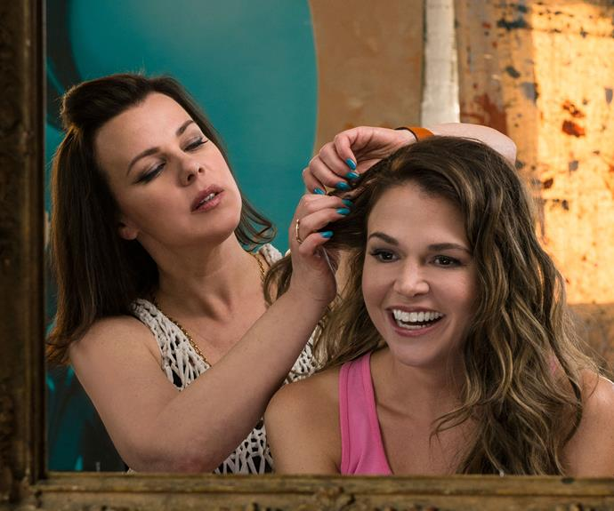 **Maggie & Liza (*Younger*):**  When Liza's (Sutton Foster) marriage falls apart, her best friend Maggie (Debi Mazar) takes her in and helps pick up the pieces. Maggie even puts up with the drama that ensues when Liza, who is 40-years-old, lies about her age (she tells her new employers she is 26-years-old) in order to land herself a job.
