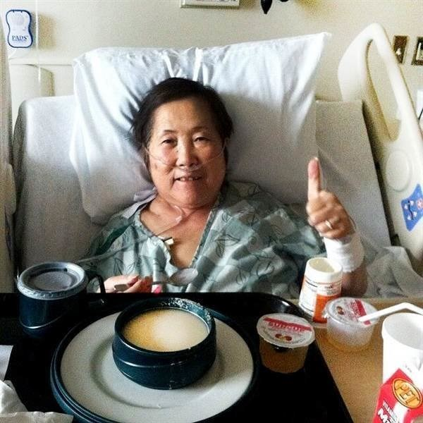 Setsuko sick in hospital.