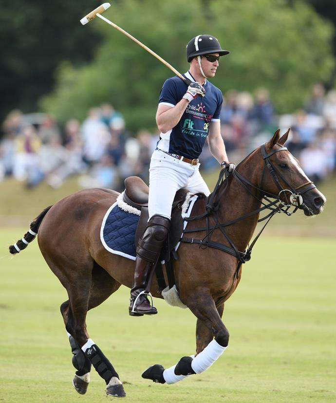 The royal looked at ease playing the sport loved by the British.