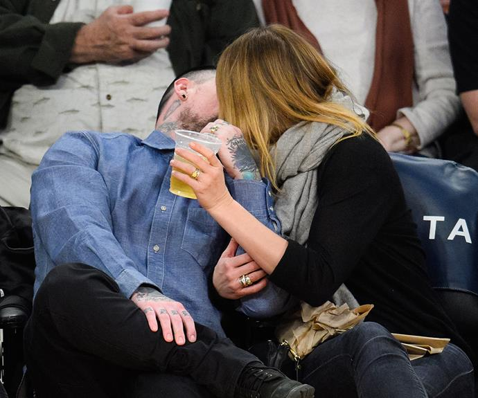 The couple aren't shy about packing on the PDA!