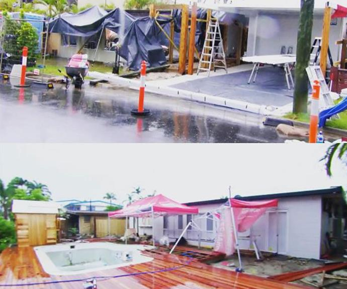 Cyclone Debbie caused work to stop for the first time in *House Rules* history!