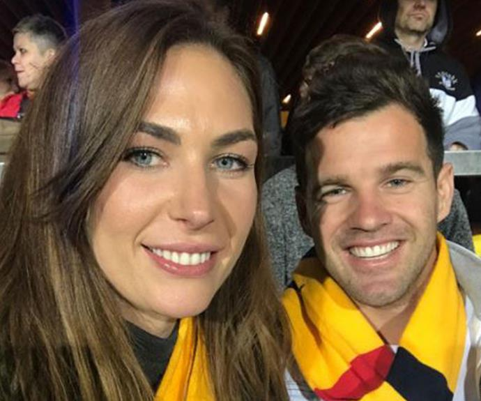 Kate and Harry enjoy a night at the footy!