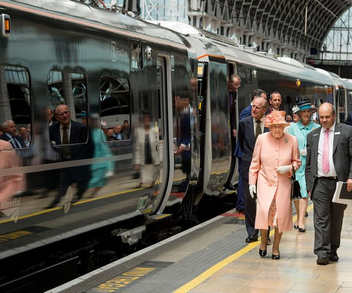 Queen Elizabeth II arrived at Paddington Station in London yesterday (June 13, 2017) to name a new train in her honour. The occasion marks the 175th anniversary of the first train journey by a British Monarch, which was taken by Queen Victoria in 1842.