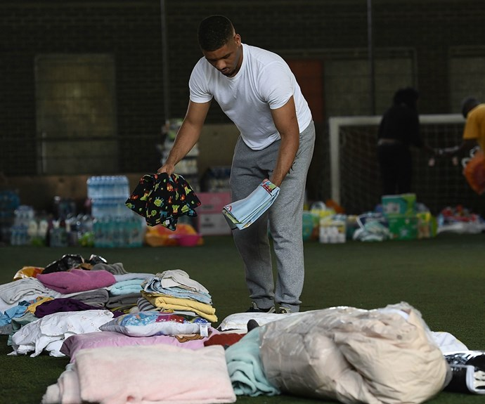 Many have donated clothes and necessities in the aftermath.