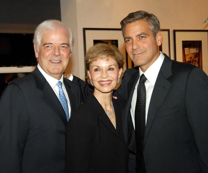 Nick, Nina and George Clooney.