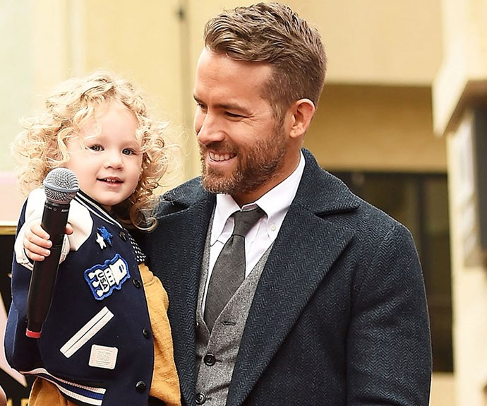**Ryan Reynolds** watches on as daughter James, two, [steals the show](http://www.nowtolove.com.au/celebrity/celeb-news/ryan-reynolds-and-blake-livelys-kids-make-public-debut-33143) at his Hollywood Walk of Fame ceremony.