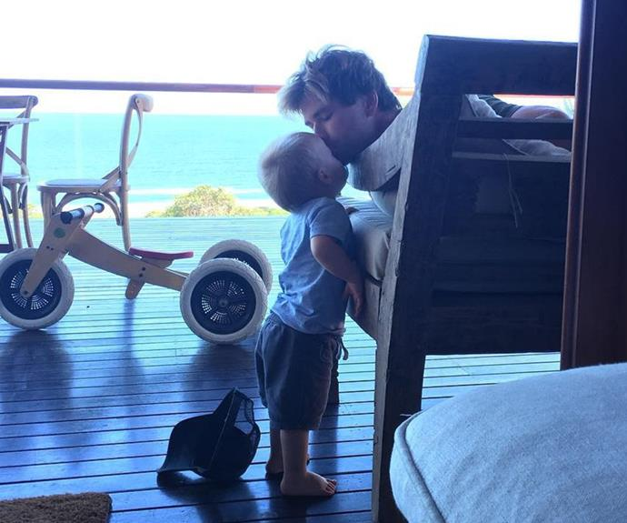 When he's not busy saving the world as Thor, [**Chris Hemsworth**](http://www.nowtolove.com.au/celebrity/celeb-news/10-times-chris-hemsworth-was-the-hunkiest-guy-alive-5680) is spending time being a doting dad to his three children India, five, and three-year-old twins Tristan and Sasha. The actor's wife Elsa Patacky captured this beautiful moment on her [Instagram](https://www.instagram.com/elsapatakyconfidential/?hl=en).