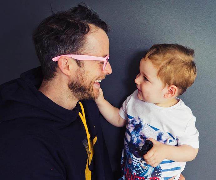 [Zoë Foster Blake](http://www.nowtolove.com.au/fashion/fashion-trends/zoe-foster-blakes-best-maternity-moments-35391) shared this ridiculously cute moment between [**Hamish Blake**](http://www.nowtolove.com.au/parenting/parenting-news/hamish-blake-second-baby-zoe-foster-blake-excitement-38144), and their adorable three-year-old son, Sonny, on her [Instagram](https://www.instagram.com/zotheysay/?hl=en).