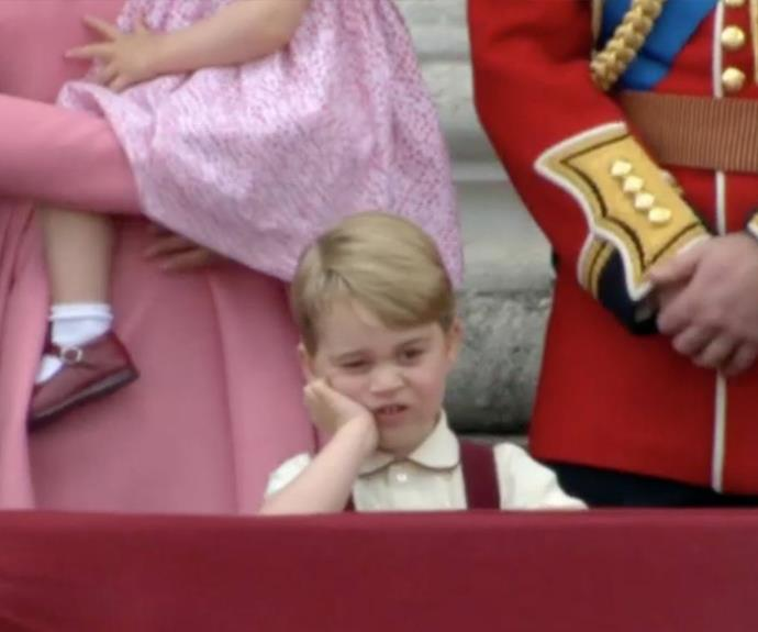 The three-year-old looked pretty unimpressed about the whole event. And at three years old, who can blame him?