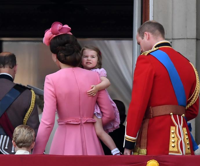 The Cambridges retreat back into Buckingham Palace.