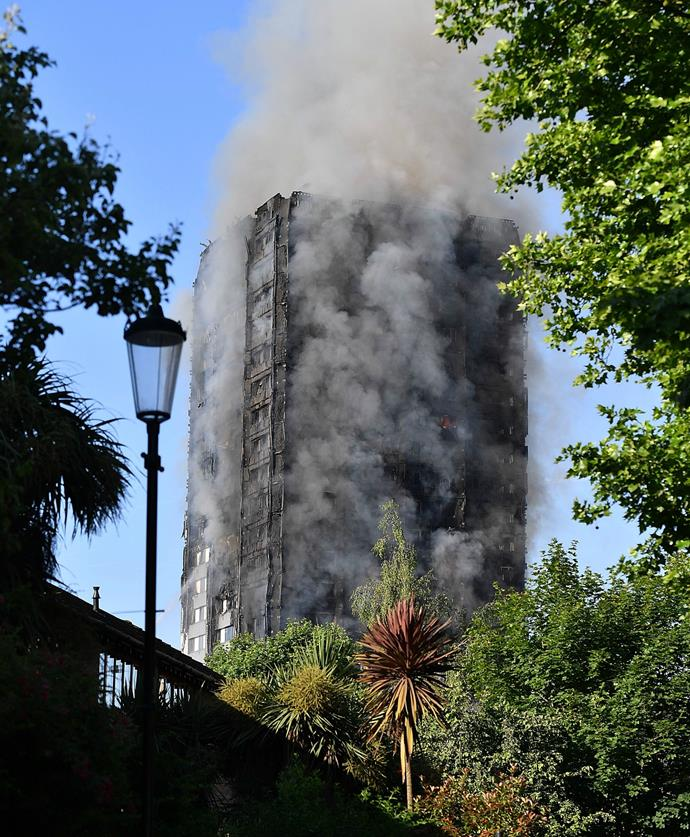 The blaze continued for hours as firefighters desperately tried to put out the flames.