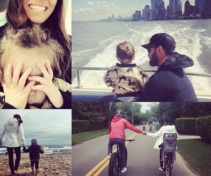 "**Justin Timberlake** posted this collage to his [Instagram](https://www.instagram.com/justintimberlake/) on Father's Day calling his wife, Jessica Biel, and two-year-old son, Silas, his ""2 angels""."
