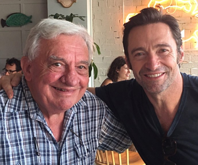 """Happy Father's Day to all…"" Hugh Jackman captioned this photo of himself with dad Christopher."