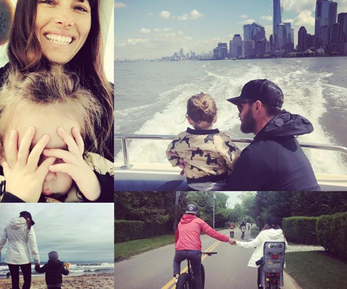 """These 2 angels... The greatest gift I've ever known. And, the reason I won't EVER STOP!"" Justin Timberlake penned to wife Jessica Biel and son Silas, adding: ""Happy Father's Day to all the Dads out there! Hope you are enjoying!"""