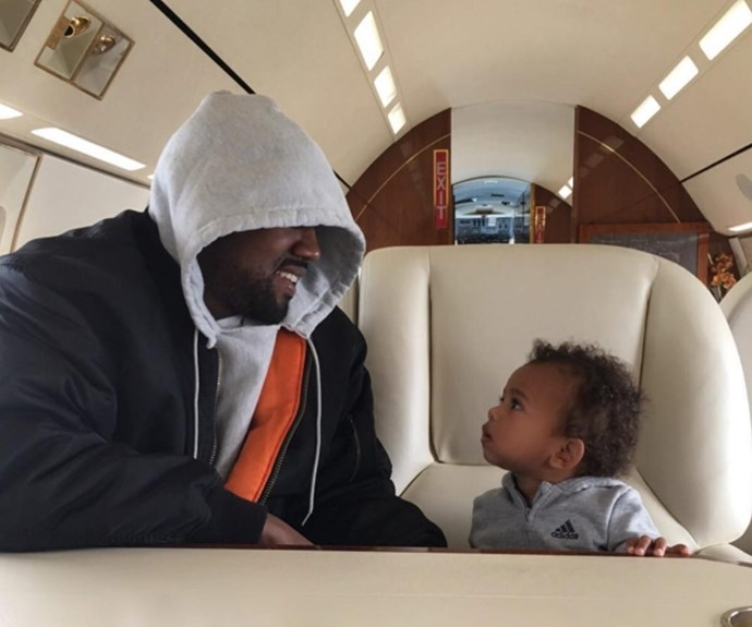 "Alongside a heartwarming moment between Kanye West and son Saint, Kim Kardashian penned: ""Happy Father's Day 💙 Thank you for being such a good dad to our babies!"""