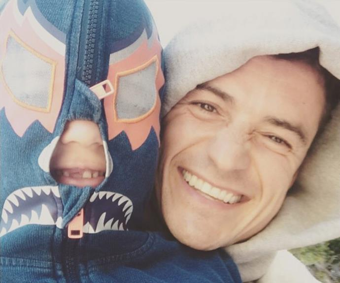 "Orlando Bloom made sure to get in early with his message to dads alike with this cute father-son moment with six-year-old Flynn, who he shares with ex Miranda Kerr. ""Leading into to #dad day."""