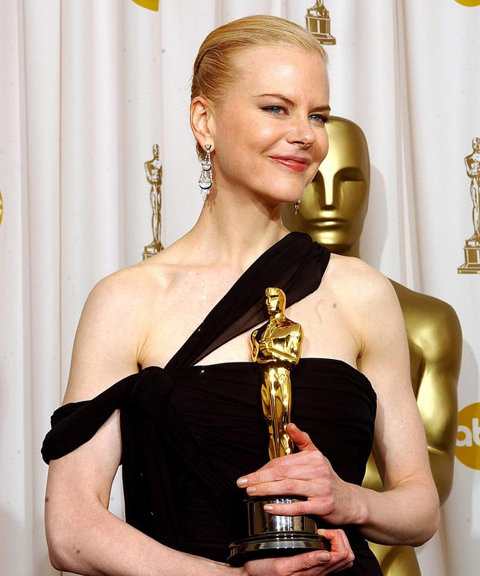 "In 2003, she won the Best Actress for *The Hours*. Looking back on the huge moment, she's since confessed: ""Winning the Oscar was one of the loneliest nights of my life as I didn't have anyone special to share it with at that stage in my life."""