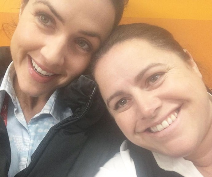More selfies from Jane and Alicia, we have a feeling these two are just as good friends off-screen as they are in the show. Credit: offspringonten