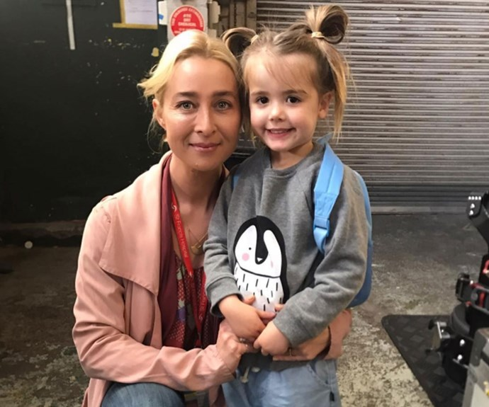 "Isabella's mother took to Instagram to write, ""And that's a wrap for season 7 offspring! Couldn't have asked for a nicer cast and crew who look take so much care of my little girl."" Awwww! Credit: elizaandisabella"