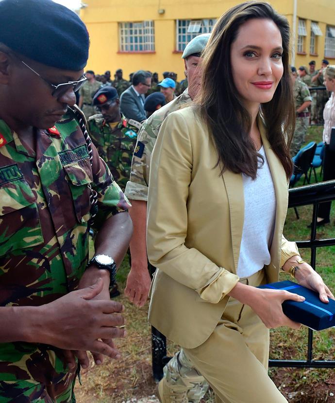 It was Angelina Jolie's third visit to Kenya.