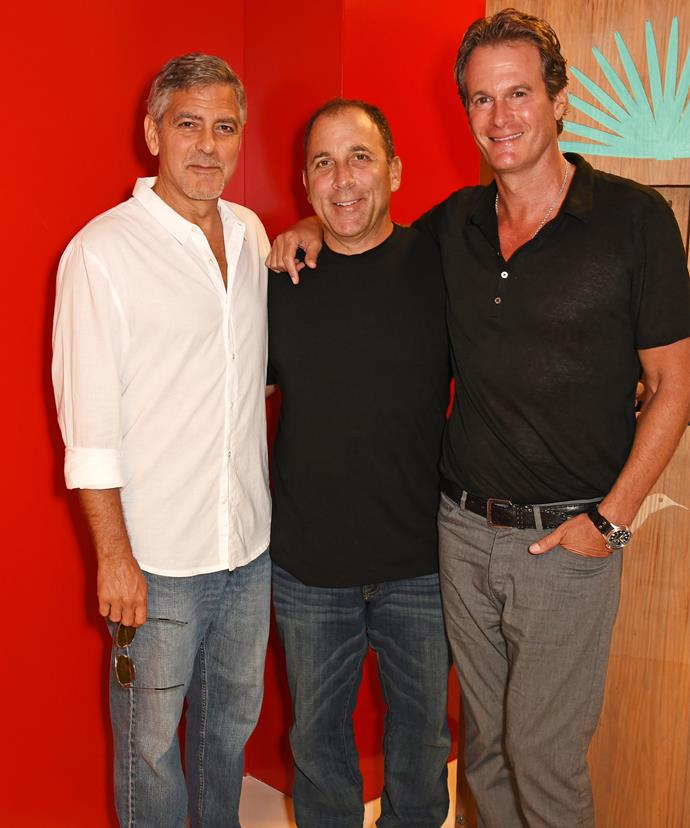 George Clooney, Michael Meldman [M] and Rande Gerber [R] must be VERY happy right now.