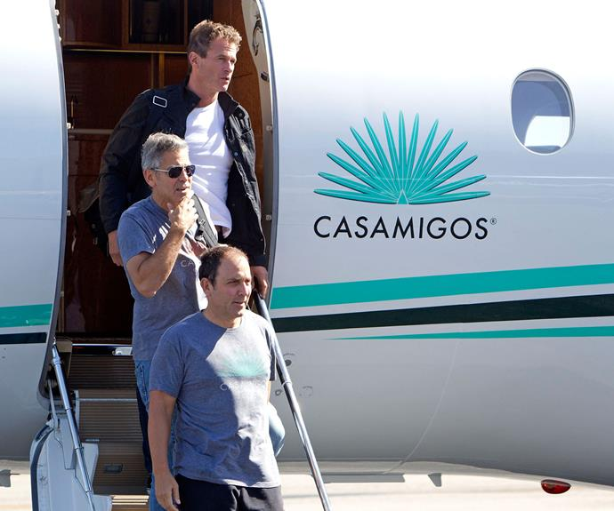 Tequila might take you to new heights, but for the boys it makes them fly. Literally. Here they are with there Casamigos plane.