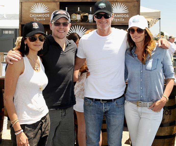 Famous pals Matt Damon and his wife Luciana are avid fans.